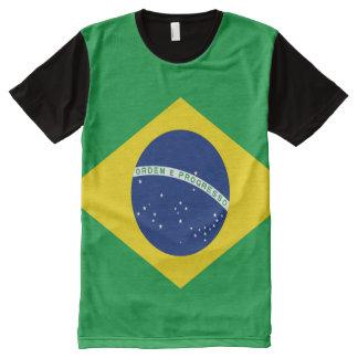 T-shirt Tout Imprimé Drapeau brésilien complètement