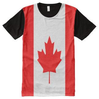 T-shirt Tout Imprimé Drapeau canadien complètement