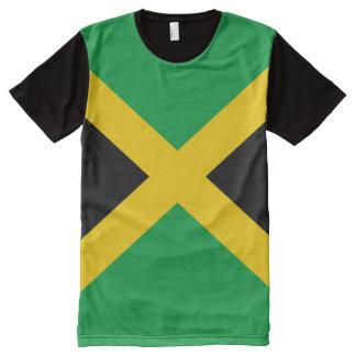 T-shirt Tout Imprimé Drapeau jamaïcain complètement