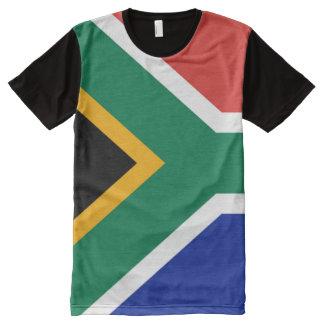T-shirt Tout Imprimé Drapeau sud-africain complètement