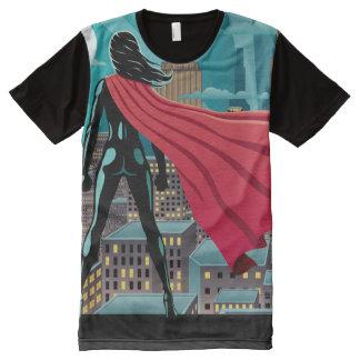 T-shirt Tout Imprimé Femme superbe dans la ville