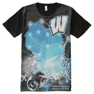 T-shirt Tout Imprimé Fierté d'état du Wisconsin