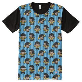 T-shirt Tout Imprimé Fléchissement de cage de Kawaii Luc