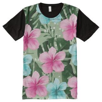 T-shirt Tout Imprimé fleurs d'été