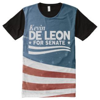 T-shirt Tout Imprimé Kevin De Léon pour le sénat