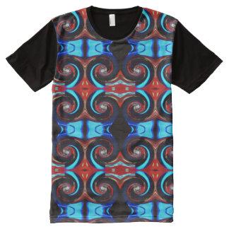 T-shirt Tout Imprimé Le tourbillonnement colore 02,2 rouges