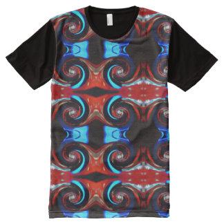 T-shirt Tout Imprimé Le tourbillonnement colore 02,3 rouges