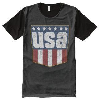 T-shirt Tout Imprimé LES Etats-Unis