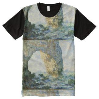T-shirt Tout Imprimé Manneporte, voûte Étretat (Normandie) - Monet de