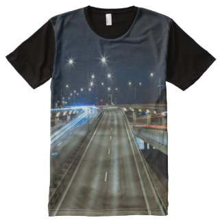 T-shirt Tout Imprimé Route la nuit