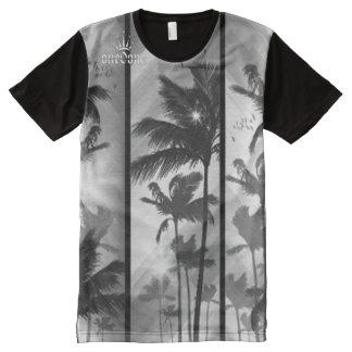 T-shirt Tout Imprimé Souhait vous étiez ici des palmiers
