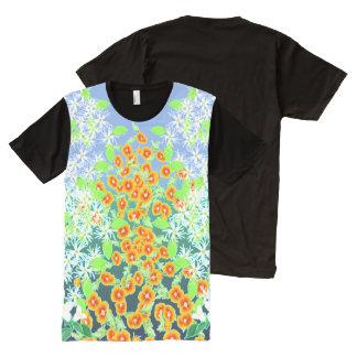 T-shirt Tout Imprimé Wildwood lumineux floral par Aleta