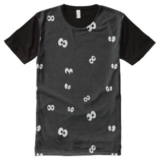T-shirt Tout Imprimé Yeux dans l'obscurité