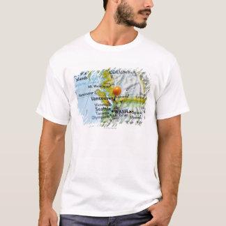 T-shirt Tracez la goupille placée sur Vancouver, Canada