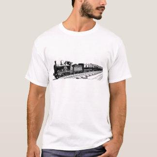 T-shirt Train vintage - noir