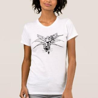 T-shirt Transformation noire et blanche d'ange