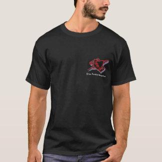 T-shirt Transparent rouge, association de poésie de l'Ohio