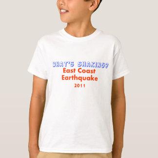 T-shirt Tremblement de terre de Côte Est - que secoue ?
