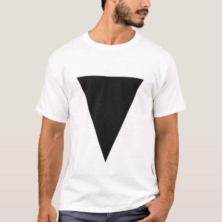 T-shirt Triangle noire minimale