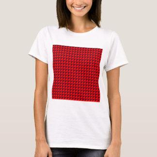 T-shirt Triangles - rouges et écarlate foncée