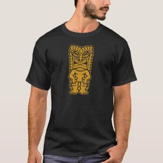 T-shirt tribal féroce de guerrier de totem d'or de tiki