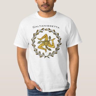 T-shirt Trinacria sicilien et guirlande olive