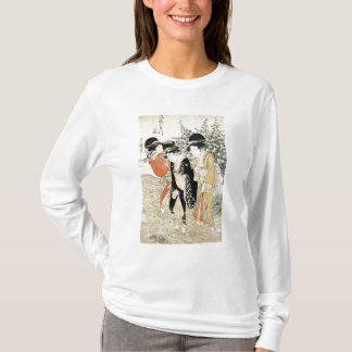 T-shirt Trois filles barbotant en rivière, de la 'mode