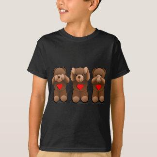 T-shirt Trois nounours sages, copie d'ours de nounours