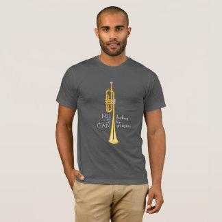 T-shirt Trompette, musicien recherchant la chemise de