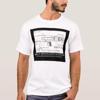 T-shirt tronçonneuse à fusée propulsée
