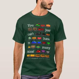 T-shirt Trop de trains (type blanc)