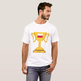 T-shirt Trophée de drapeau de la Pologne
