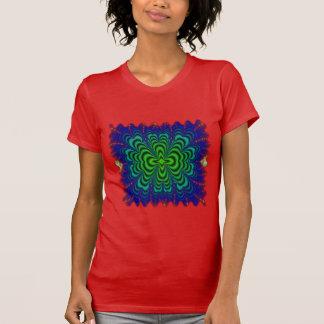 T-shirt Tubes verts au néon de l'espace de fractale de