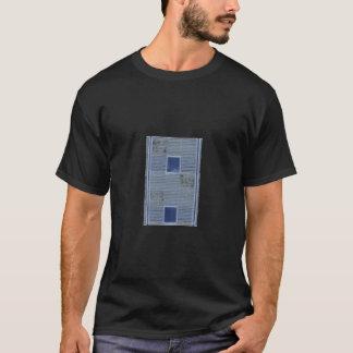 T-shirt tuiles bleues colorées