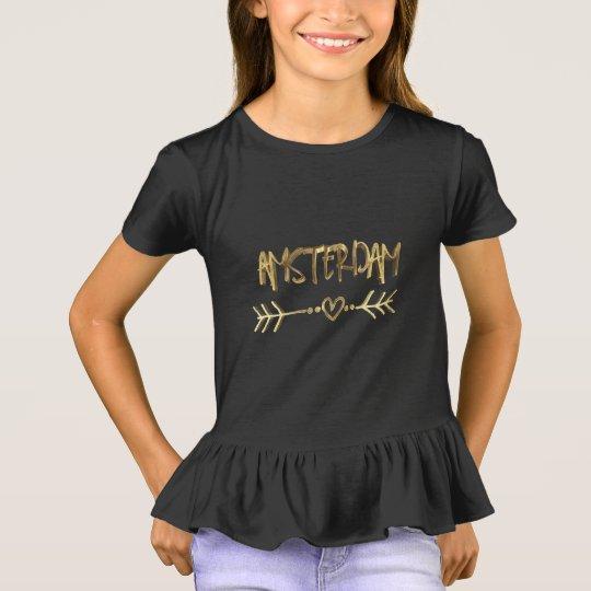 T-shirt Typographie de regard d'or de noir d'amour
