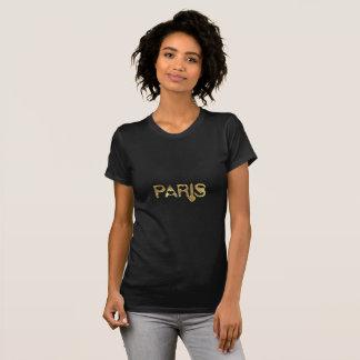 T-shirt Typographie élégante de regard d'or de Paris