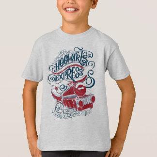 T-shirt Typographie exprès de Harry Potter | Hogwarts