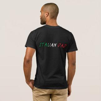 T-shirt Typographie italienne de drapeau de l'Italie de