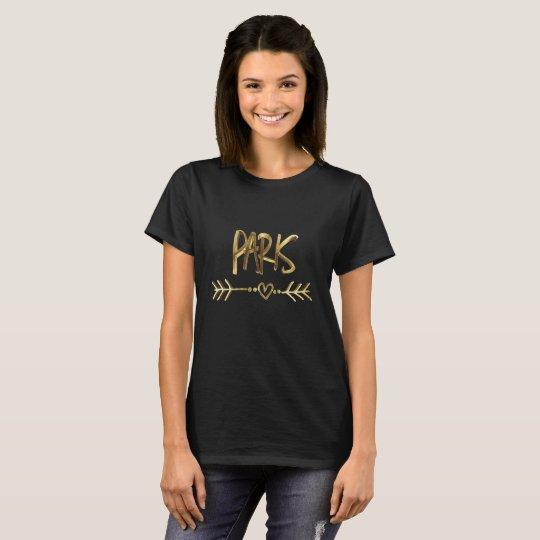 T-shirt Typographie noire de regard d'or de Paris France
