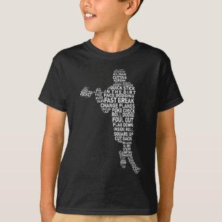 T-shirt typographique de joueur de lacrosse