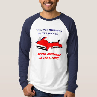 T-SHIRT U.P. TRANSFORMED INTO UN SNOWMOBILE - CHEMISE