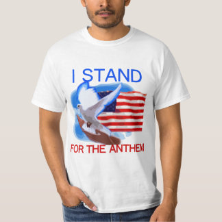 T-shirt U.S. Drapeau et colombe que je représente l'hymne