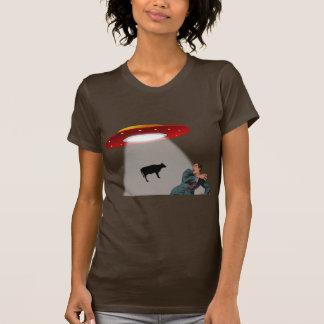 T-shirt UFO : Style d'abduction de vache rétro