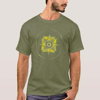 """T-shirt """"Un avec le mandala T en verre souillé d'air"""""""