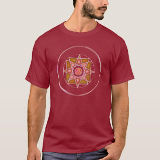 """T-shirt """"Un avec le mandala T en verre souillé du feu"""""""