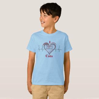 T-shirt Un coeur pour des chats