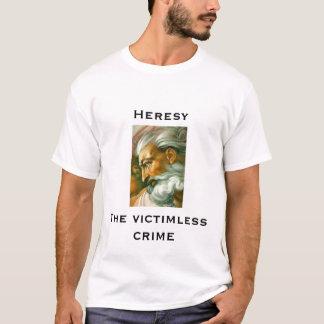 T-shirt un dieu, hérésie, le crime sans victime