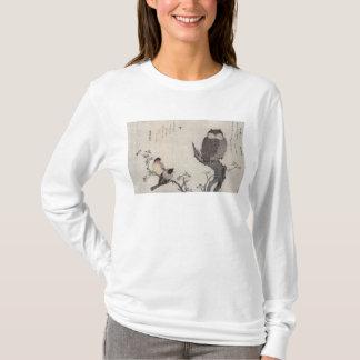 T-shirt Un hibou et deux bouvreuils orientaux