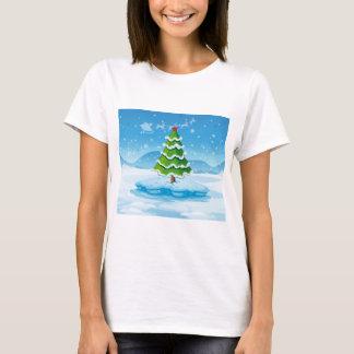 T-shirt Un pin au-dessus d'un iceberg avec une étoile