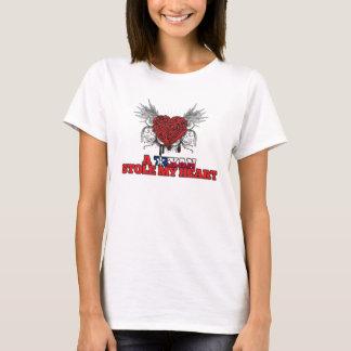 T-shirt Un Texan a volé mon coeur